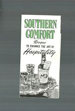 Exquisite Vgc 1939 Southern Comfort Hospitality Recipes Booklet Pamphlet Nice