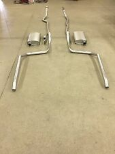 1965-1969 CHEVY BELAIR, BISCAYNE & IMPALA DUAL EXHAUST, ALUMINIZED, 283 & 327