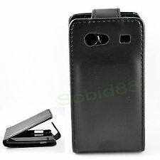Hot Black Flip leather pouch hard cover case For Samsung Galaxy S Advance i9070
