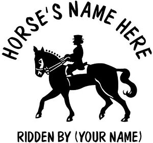"2 x 15"" (HORSE AND RIDER#2) HORSE TRAILER, VAN CAR DECALS VINYL GRAPHICS STICKER"