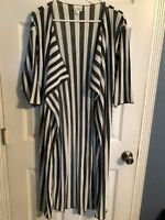 LuLaRoe Shirley Hunter Green White Stripe Kimono Coverup S Small NEW