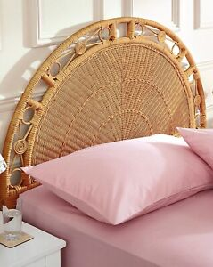 RATTAN Wicker COLONIAL Peacock CENTREPIECE Single Headboard SUSTAINABLE Ethical