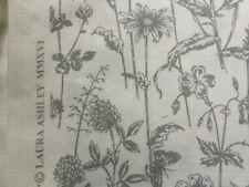 New Laura Ashley Lisette White Steel Fabric Material 137 cm X 50 cm
