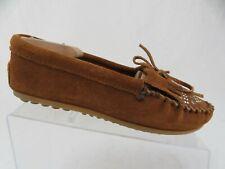 MINNETONKA Brown Sz 7 Women Suede Slip-On Loafers