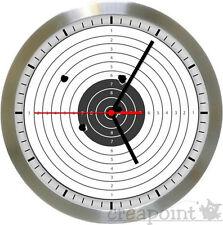 #529 Wanduhr  -> Zielscheibe / Target <- Funkuhr Alu gebürstet Echtglas TOP!