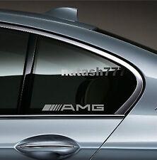 AMG Mercedes Benz  E55 CLS63 E63 Racinig Decal sticker emblem logo SILVER Pair