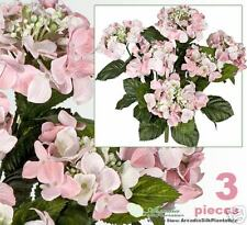 "Three 22"" Hydrangea Artificial Flowers Silk Plants PK"