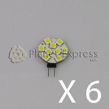 6 x Lampada G4 9 Led SMD 5050 Bianco Ghiaccio 145 Lumen 12V DC roulotte, barca 