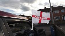 ENGLAND ST GEORGE CAR FLAG 3 X PACK OF 2 (6 FLAG ONLEY)