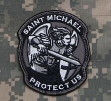 PROTECT US SAINT MICHAEL - SWAT - TACTICAL BADGE HOOK MORALE MILITARY PATCH