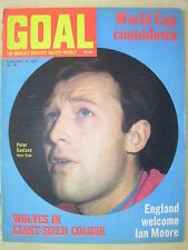 GOAL MAGAZINE FEBRUARY 14 1970 PETER EUSTACE - WOLVES - TONY CURRIE - ARSENAL