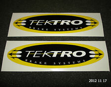 2 AUTHENTIC TEKTRO BRAKE SYSTEMS OVAL SHAPED STICKERS #3 / DECALS / AUFKLEBER