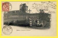 cpa France Castle 72 - BALLON (Sarthe) CALVAIRE et CHÂTEAU Forteresse