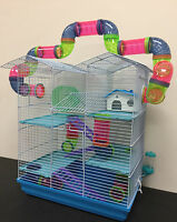 Large Twin Towner Crossing Tube Hamster Habitat Rodent Gerbil Mice Rats Cage 248