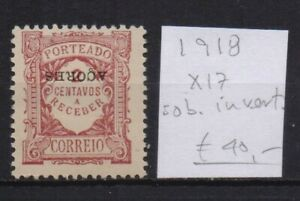 ! Azores 1918. Postage Due Inverted Overload  Stamp. YT#X17. €40.00!