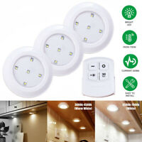 3/6pcs LED Wireless Night Light Dimmable Under Cabinet Stair Lamp Remote Control