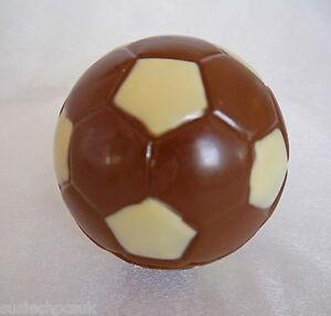 "Hand-made Belgian Chocolate Football,4"" diameter.May be personalised"