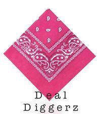 Bandana Pack Of 12 Mixed Colours Paisley Design Bandana 100% Cotton Best Deal uk