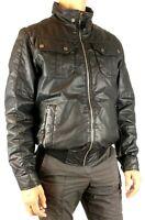 Geox giubbino uomo nero mezza stagione taglia 46 style M2420M giubbotto