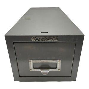 Vintage Steelmaster Art Steel Industrial Drawer Card File Cabinet New York.