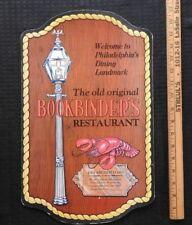 "1980 ""THE ORIGINAL BOOKBINDERS RESTAURANT"" PHILADELPHIA PA JOHN & ALBERT TAXIN"