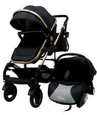 3in1 Kombi Kinderwagen Komplettset Buggy Babywanne Babyschale Autositz Black Neu