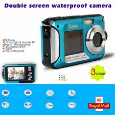 DOUBLE SCREEN HD 24MP WATERPROOF DIGITAL VIDEO CAMERA 1080P DV,BLUE,UNDERWATER