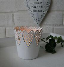 Deko-Kerzenständer & -Teelichthalter aus Metall mit Herz-Form für Teelichter