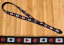 RENO Cards & Dice Cotton USA made TROPHY Ukulele Uke Strap