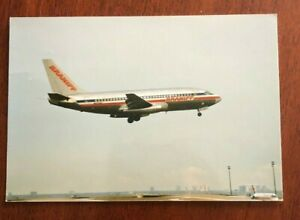 Braniff International Airlines Postcard - Boeing 737