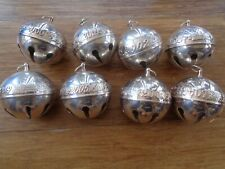 8~Wallace Silver Sleigh Bell Ornaments 2000,2001,2002,2003,2004, 2005,2006,2007