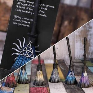 POSITIVE ENERGY BROOMSTICKS WITH SILVER CHARMS 20CM NEMESIS NOW SOLD SINGLY