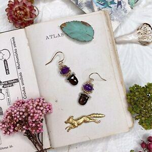 Amethyst 14K Gold Filled Handmade Sundance Garden Earrings