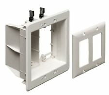 Arlington Model TVBU505 Double Gang Recessed Electrical Box for Power & Low Volt