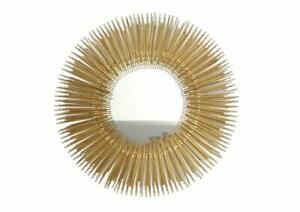 Handmade Iron And Glass Sunburst Mirror Large Gold Color 60 x 60 x 2.50 Cm