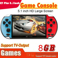 X7 Plus 5.1inch Game Consoles 8GB Handheld Double Joystick Game Controller Xmas