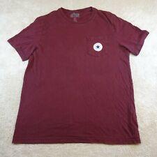 Converse T-Shirt  Adult Medium Red White Blue Star Logo Tee Cotton Top Mens *