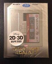 GUARDIANS OF THE GALAXY 3D Blu-Ray SteelBook Kimchi Korea 2-Disc Marvel OOP Rare