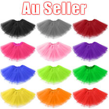 3 LAYER TUTU Skirt Girl Baby Kids Adults Dressup Party Costume Ballet Dancewear