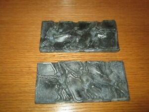 Vintage Metal Military Toy Soldiers Mold for Making Lead Toy Figurines