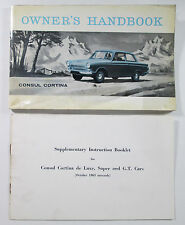 1962 Ford UK Consul Cortina Owners Handbook Vintage Auto Car Manual Guide
