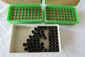160 Hülsen .45 ACP Messing mit 2 Patronenboxen - Wiederladen
