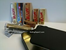 Storage Tin Stash+Raw+Elements Rolling Papers+Randy's Machines+Tips King+1 1/4