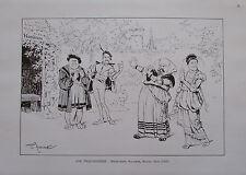 Theo Zasche: Eine Faust-Komödie - Kunstblatt aus ca. 1924 Karikatur print