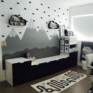 Little Cloud Decorative Stickers Baby Boy Kids Rooms Decor Wall Decal Stickers