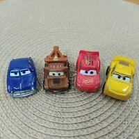 Disney Pixar Cars Mini Racers Diecast Lot of 4 Lightning McQueen Mater Doc Cruz