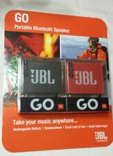 Jbl Go Portable Bluetooth Wireless Speakers Red & Black 2 Pack Rechargeable New