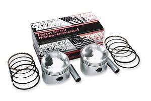 "Buell S1 Lightning 1996-98 Wiseco Piston Kit 73ci. 3.508"" bore 10:1 comp K1701"