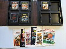 ATARI 2600 Game Lot + Atari Game Holder Book Atari 5 Game Lot Warlords
