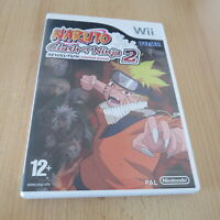 Naruto: Clash of Ninja Revolution 2 Nintendo Wii 12+ Fighting Game pal